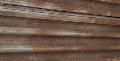 Corrugated Metal Rust Textured Slatwall