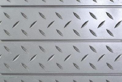Silver Diamond Plate Slatwall