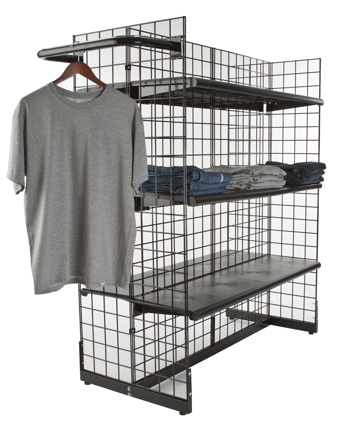 Gridwall Gondola Display (Accessories Sold Separately)