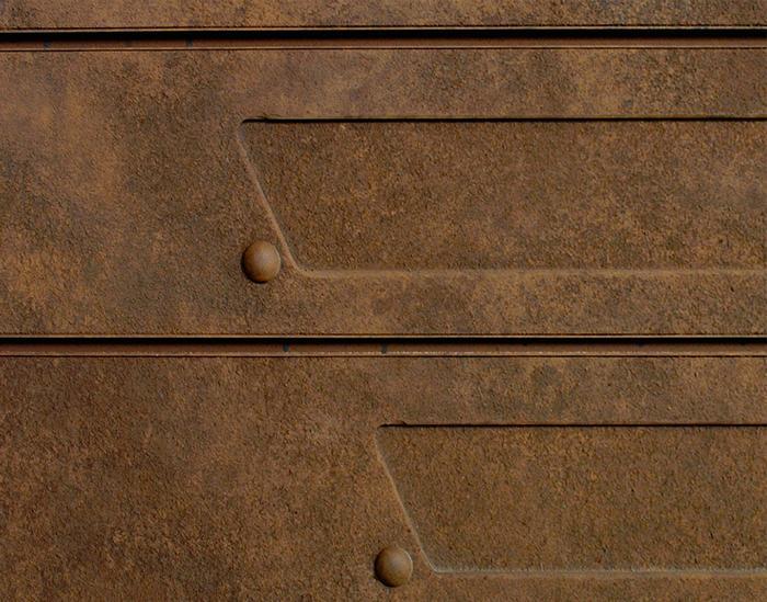 Heavy Metal Rust Textured Slatwall