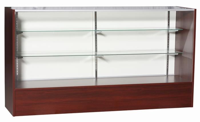 Full Vision Cherry Showcases available in 4', 5' and 6' sizes.