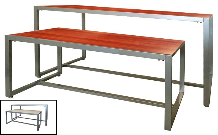 Reversible Top Nesting Display Table Cherry / Maple