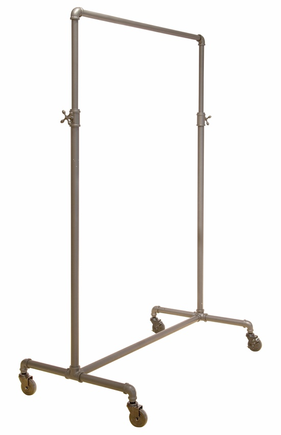 Adjustable Height Pipe Frame Rolling Rack
