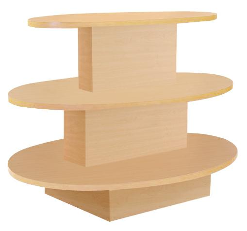 3-Tier Oval Display Table