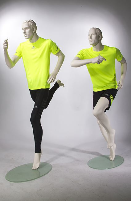 Male Sports Mannequins Athletic Mannequin In Running Pose