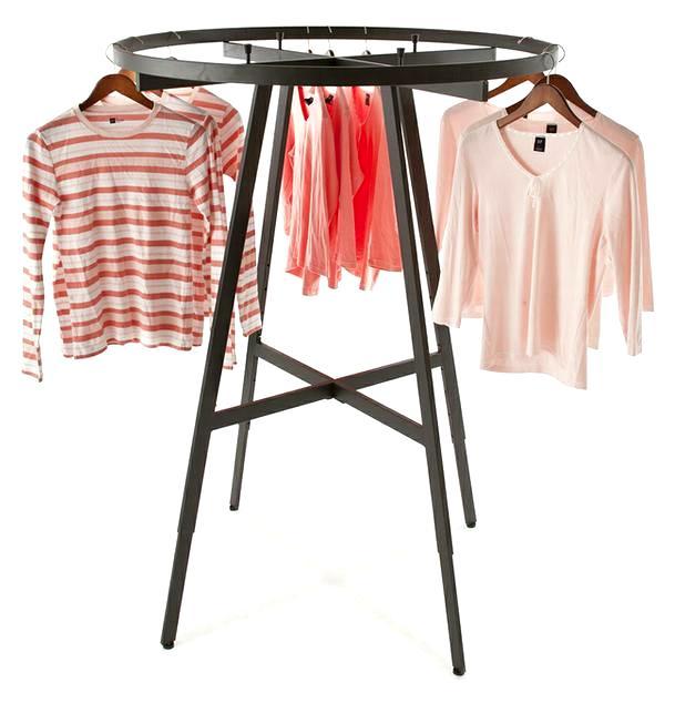 Round Garment Racks Black Round Racks For Clothes Display