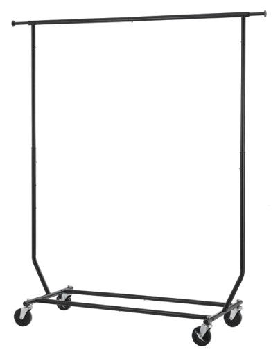 Black Collapsible Rolling Rack