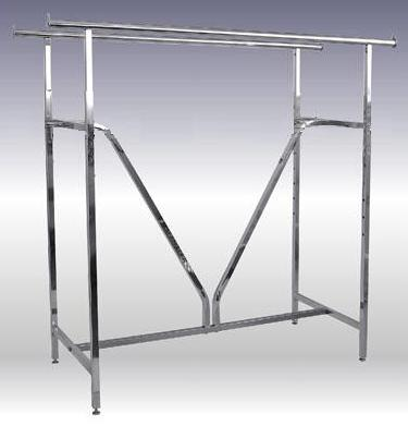 Double Bar Garment Racks With Heavy Duty VBrace Support Enchanting Commercial Coat Racks