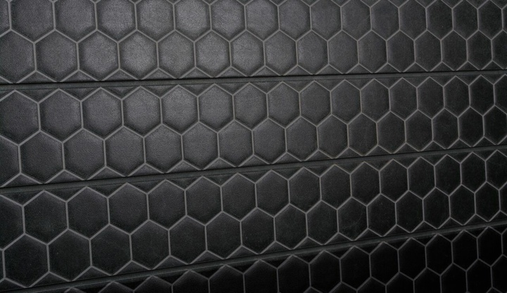 Black Honeycomb Tile Slatwall Designer Textured Slat
