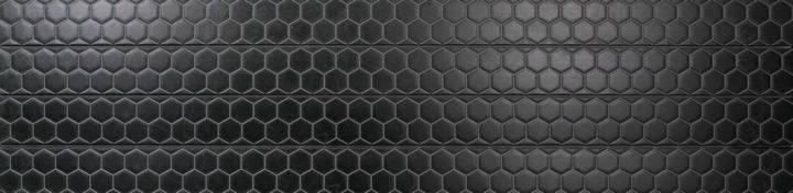 Black Honeycomb Tile Slatwall