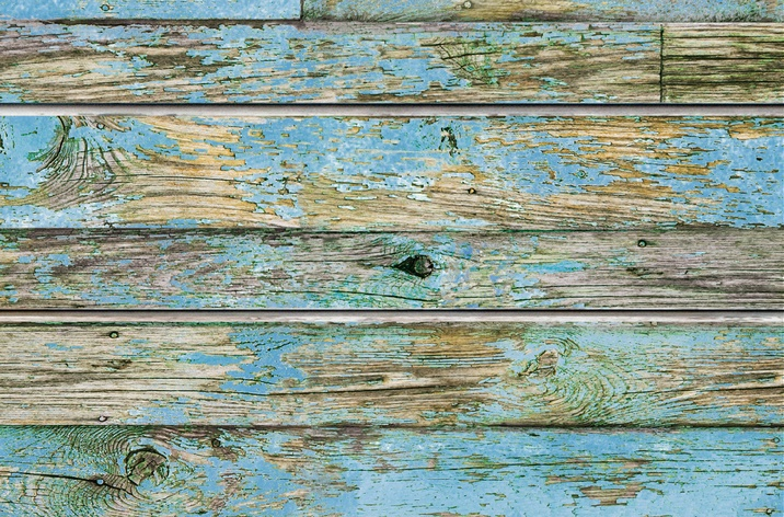 Blue Old Painted Wood Textured Slatwall Designer Slat