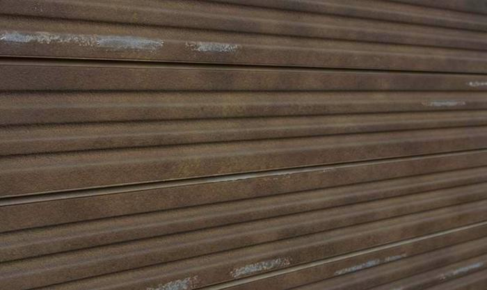 Rust Corrugated Metal Textured Slatwall