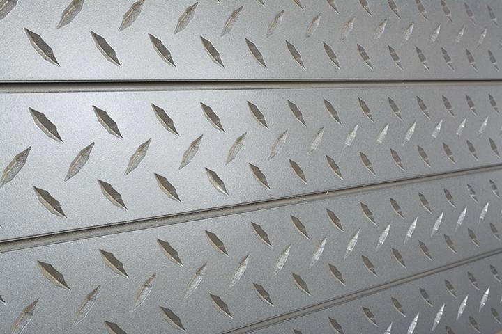 Textured Paneling | Diamond Plate Textured Slatwall Panels Silver 3d Metal Slat Wall