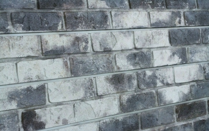 Grey Old Painted Brick Textured Slatwall Panels Gray