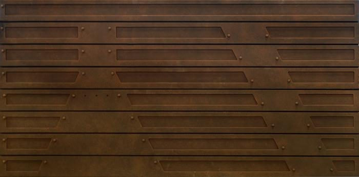 Slat Design Textured Slatwall Panels Metal Rust