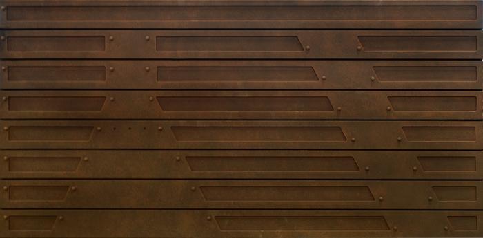 Slat Design Textured Slatwall Panels Metal Rust