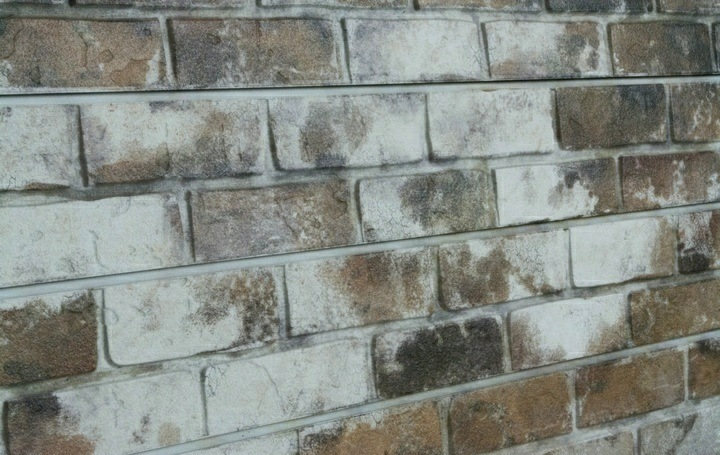 Sandstone old painted brick textured slatwall panels - Textured brick wall panels ...