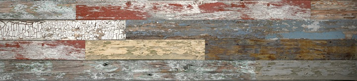 Mixed Old Painted Wood Slatwall Panel