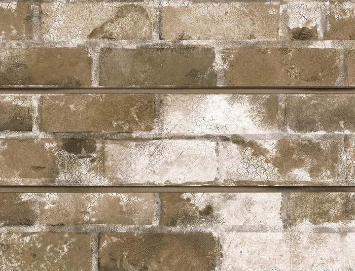 Taupe Old Painted Brick Textured Slatwall