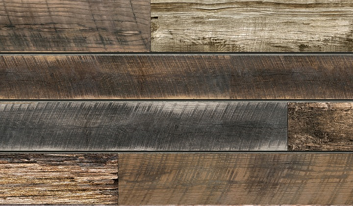Reclaimed Wood Plank Textured Slatwall