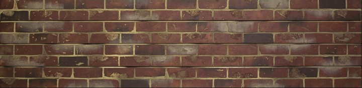 Red Brick Slatwall Panel
