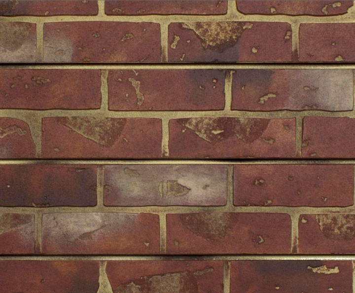 Red Brick Textured Slatwall