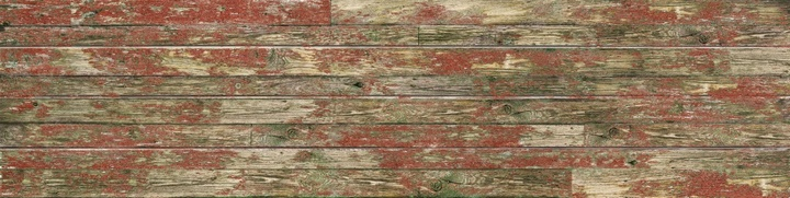 Red Old Painted Wood Slatwall