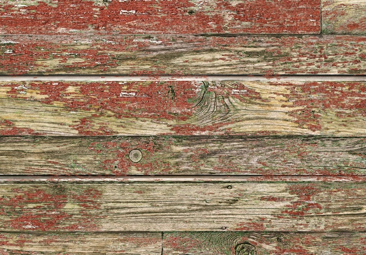 Red Old Painted Wood Textured Slatwall