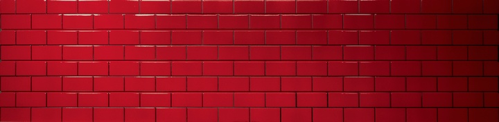 Red Subway Tile Slatwall