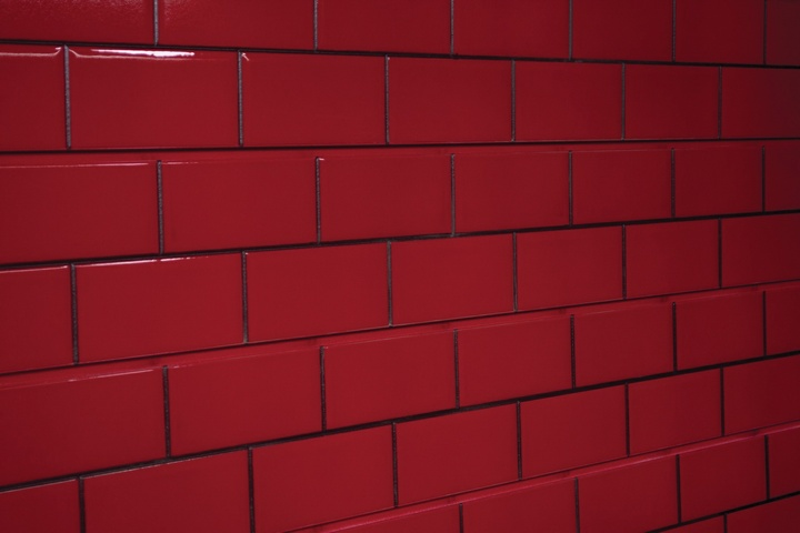 Red Tile Slatwall