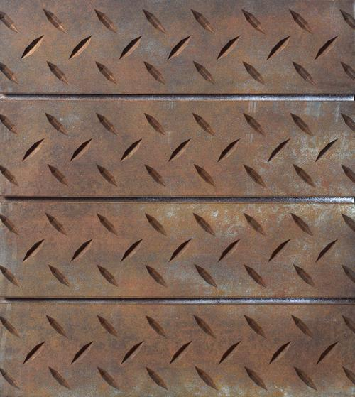 Rust Diamond Plate Slatwall