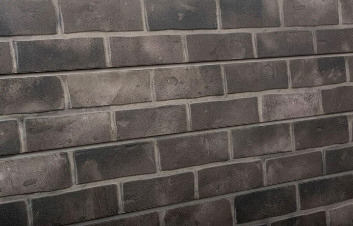 Grey Brick Textured Slatwall