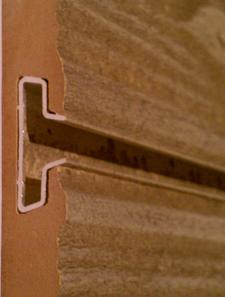 Textured Slatwall Aluminum Groove Inserts For 3d Texture