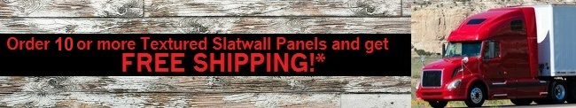 Free shipping on textured slatwall panels*