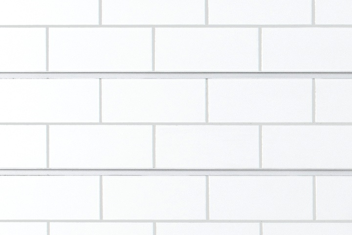 White Tile Slatwall