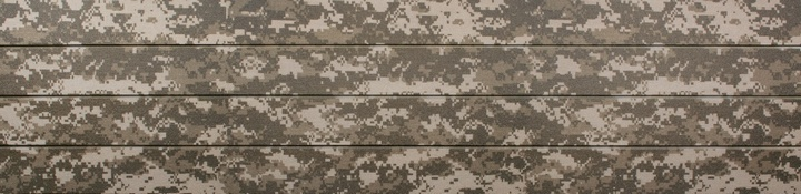 Warm Digital Camo Slatwall Panels Camouflage Slat Wall