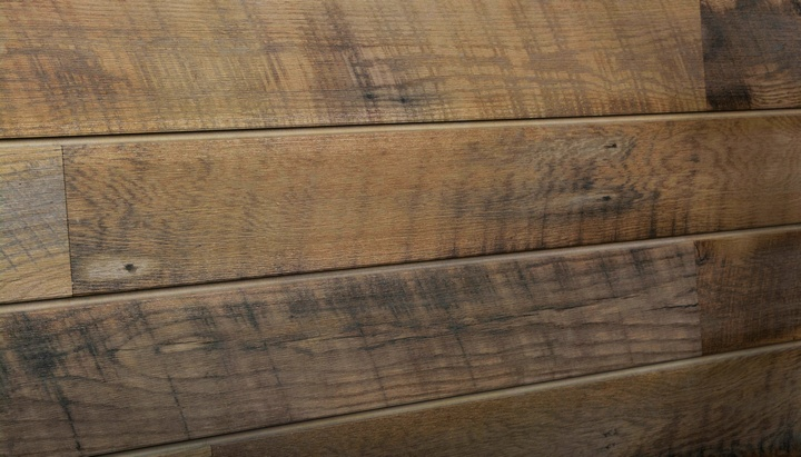 Warm Sawtooth Oak Textured Woodgrain Slatwall Panels
