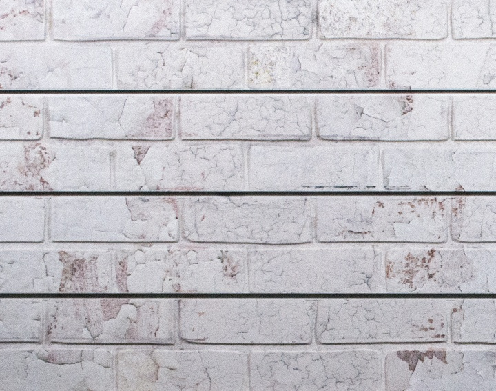 white old painted brick textured slatwall panels - Painted Brick