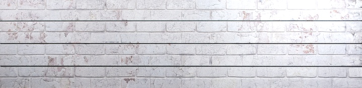 White Old Painted Brick Slatwall Panel