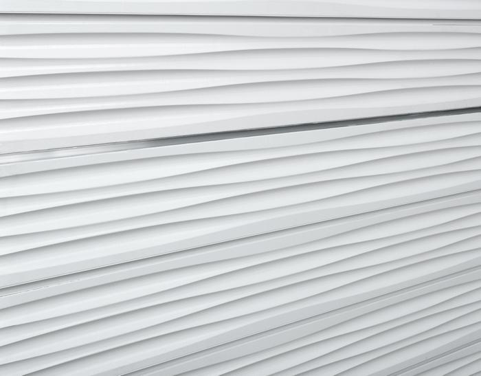 White Wave Slatwall Textured Wave Pattern 3d Designer
