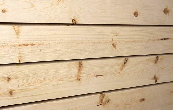 Spruce Textured Woodgrain Slatwall Panels With Natural Finish