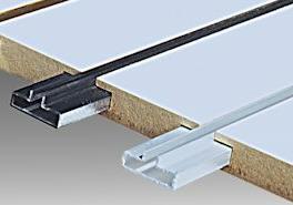 Slatwall Aluminum Groove Inserts For Added Strength