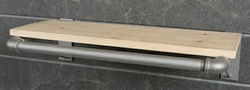 Pipe-Line Slatwall Shelf