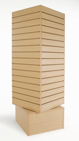 Freestanding Slatwall Rotating Cube Fixtures 20 Inch