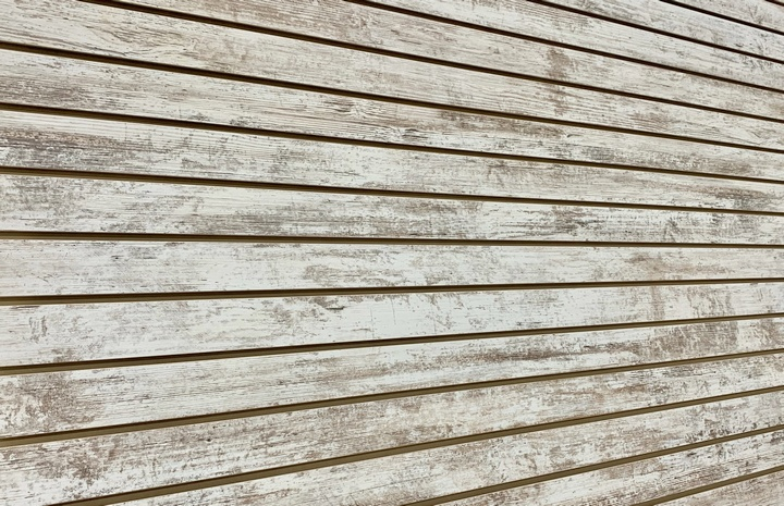 Whitewash Fence Melamine Woodgrain Textured Slatwall Panel